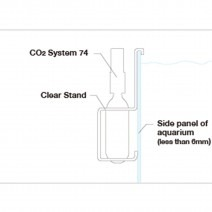 ADA CO2 System 74 Clear Stand