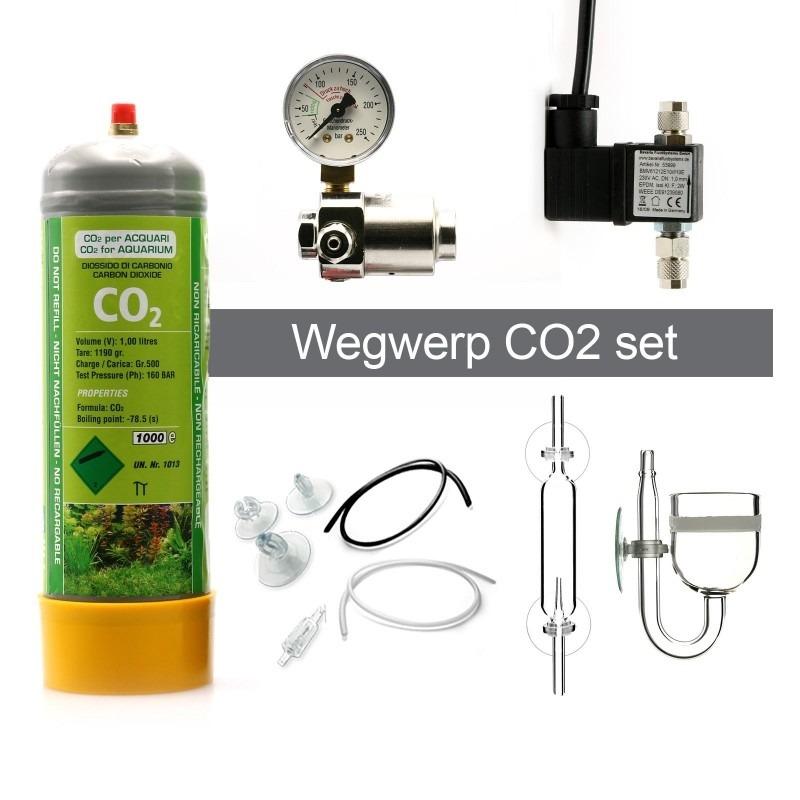 CO2 wegwerp systeem samenstellen