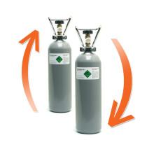 CO2 fles hervullen (ruilsysteem)