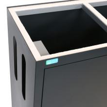 ILA aquarium meubel (90x55x80cm) antraciet