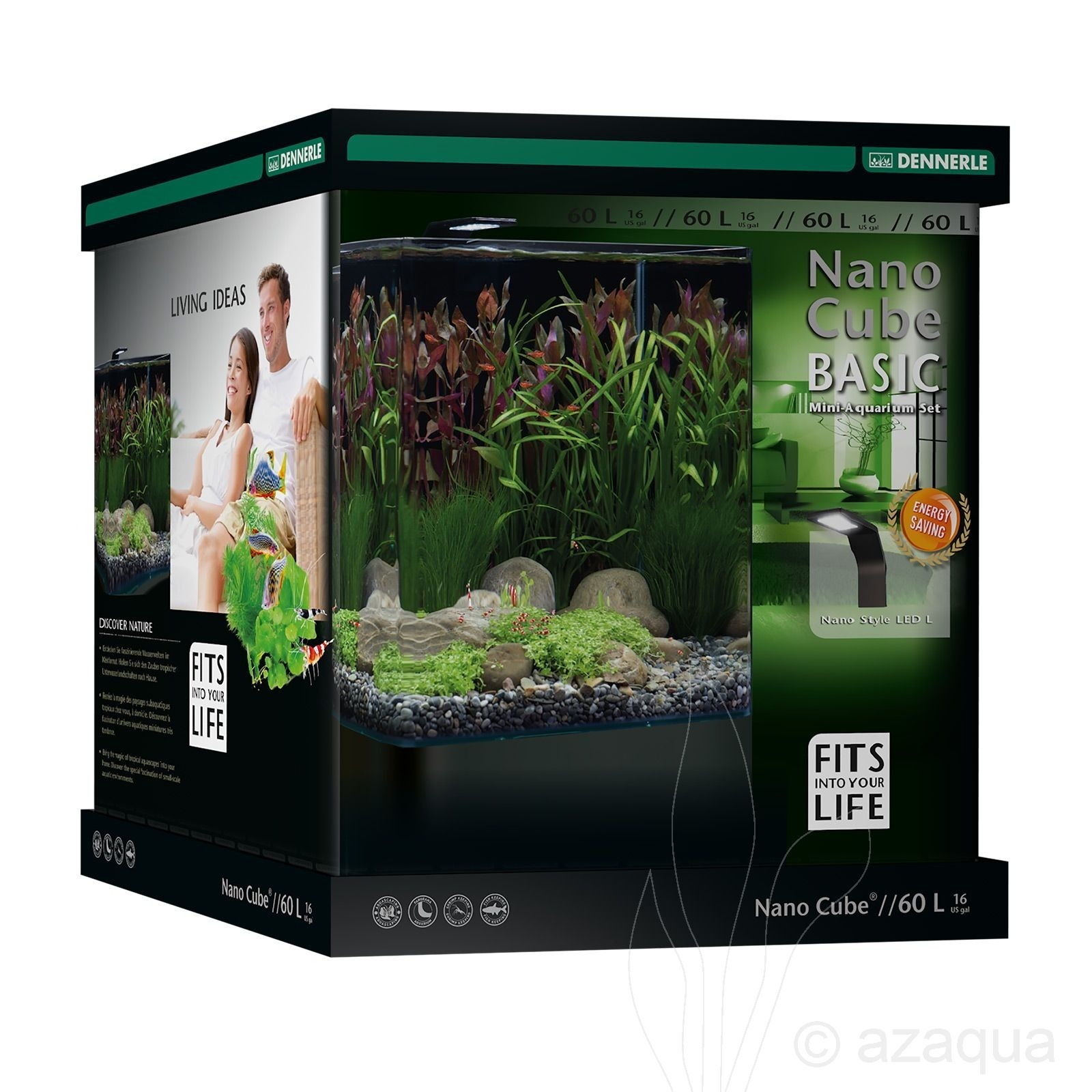 Dennerle NanoCube Basic 60L - complete aquariumset