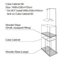 ADA Cube Cabinet Clear - Aquarium meubel detail