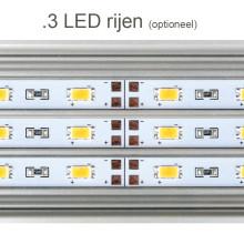 Daytime eco 3 LED rijen (optioneel) - LED verlichting aquarium