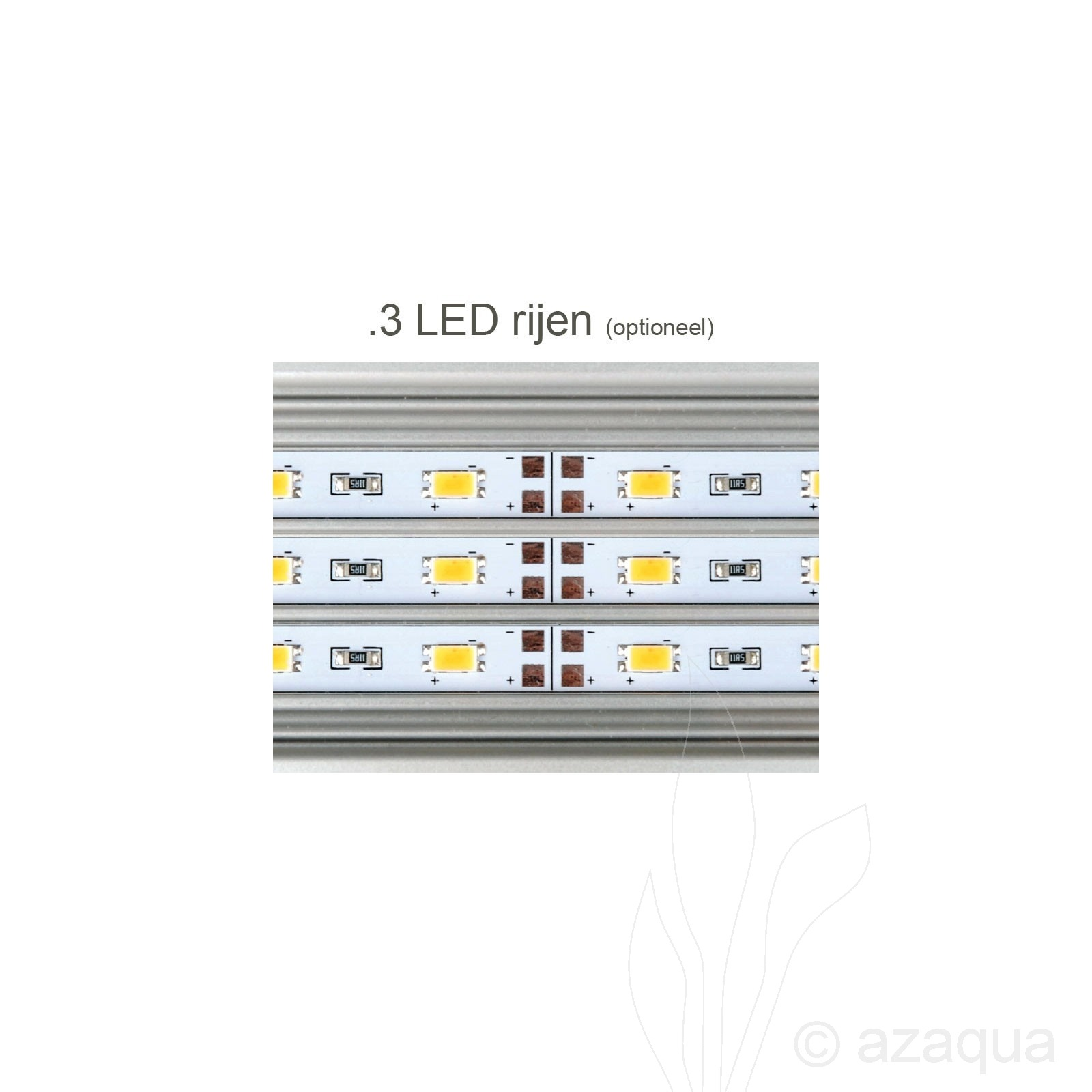 daytime eco 3 led rows optional led lighting aquarium