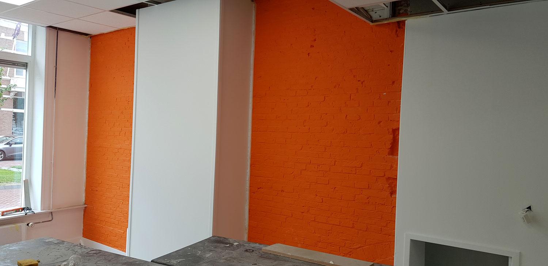 En is ook de tweede muur Azaqua oranje