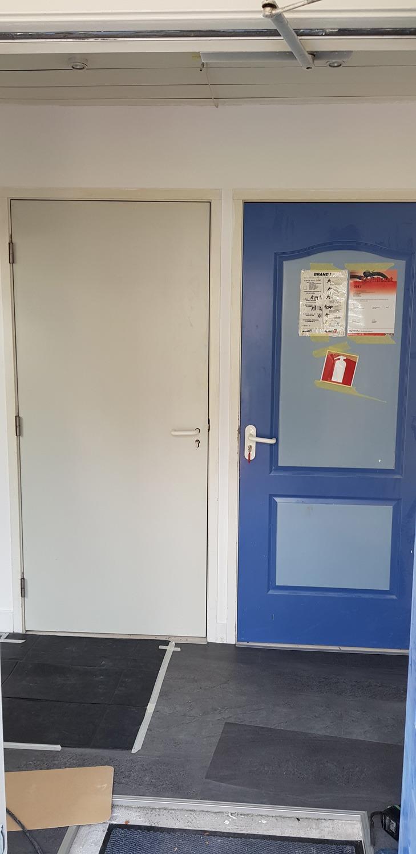 De deuren worden vervangen